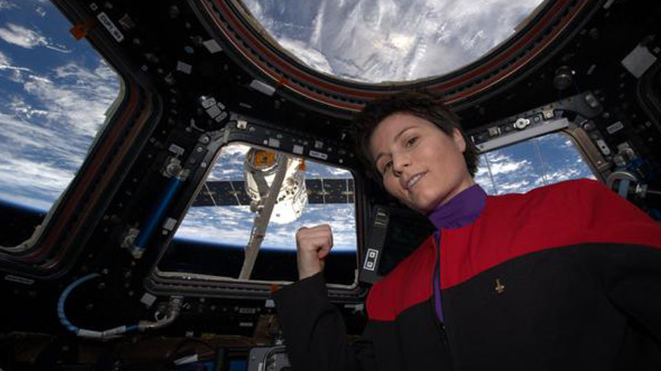 astronaut selfie star trek