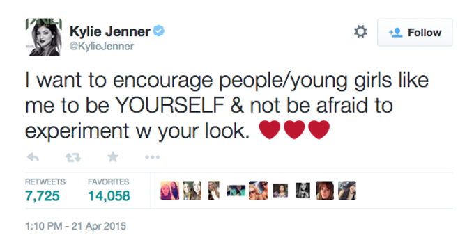 kylie jenner challenge response
