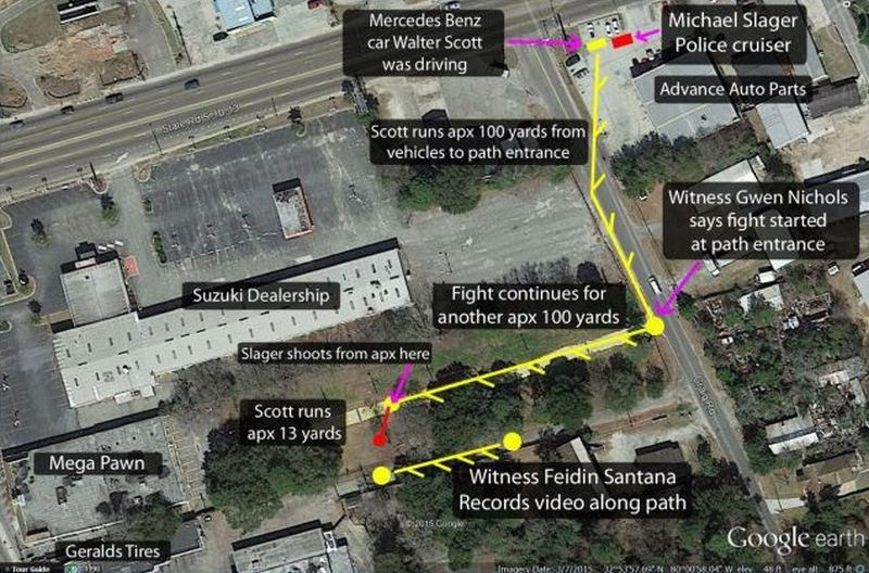 map of situation walter scott