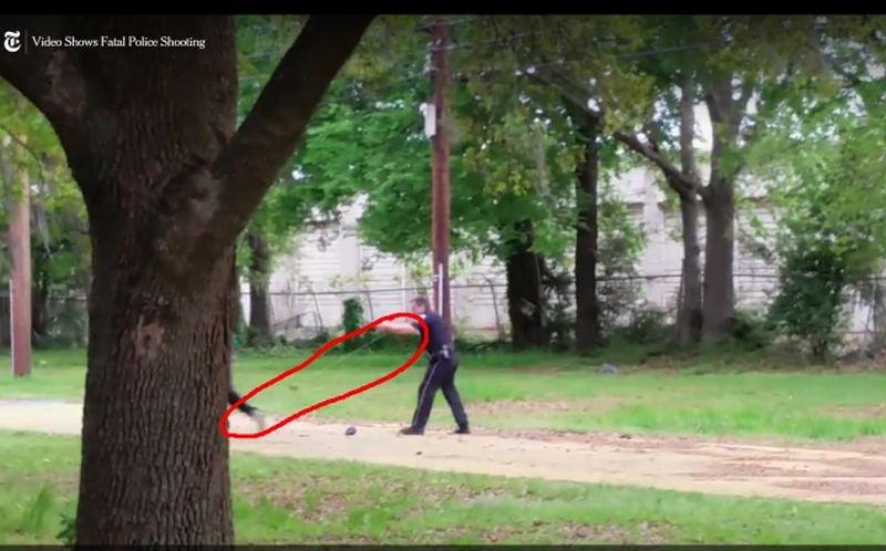 screen shot of taser in officer