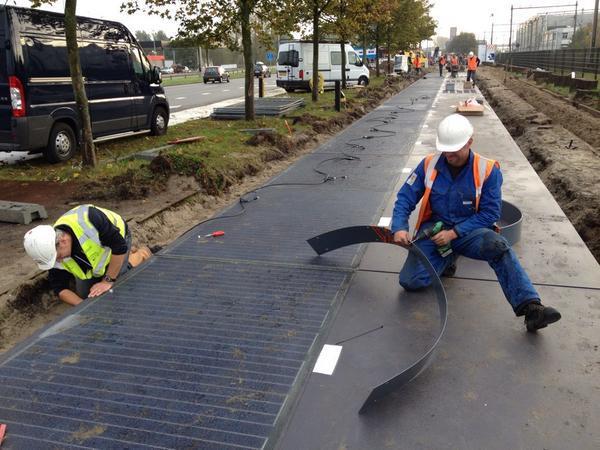 solar road construction
